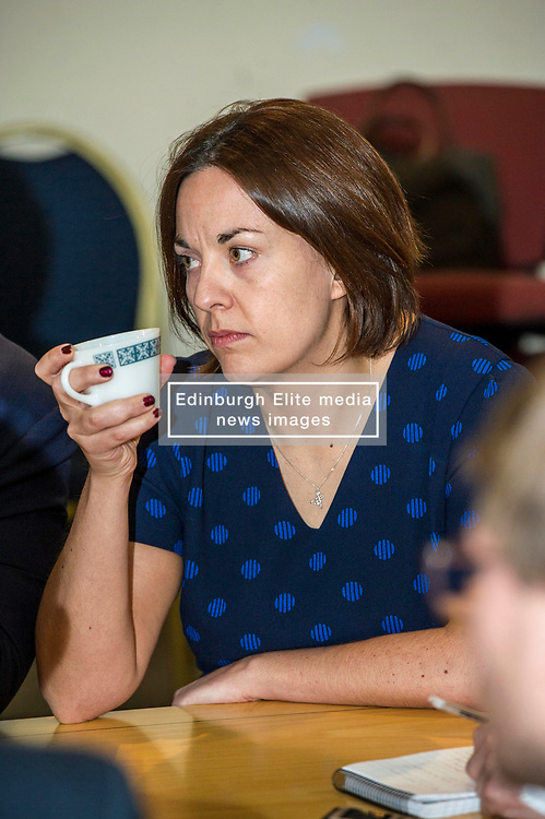 Pictured: Kezia Dugdale.<br /> Scottish Labour leader Kezia Dugdale, MSP,  and Tom Watson, MP deputy leader of the Labour Party, visited Edinburgh's Serenity cafe today to meet and encourage Labour candidates ffor the upcoming local elections;<br /> Ger Harley | EEm 27 March 2017