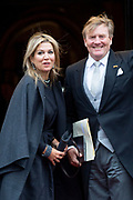 Koning Willem-Alexander en koningin Maxima houden de traditionele Nieuwjaarsontvangst voor Corps Diplomatique en internationale organisaties in het Koninklijk Paleis op de Dam, Amsterdam<br /> <br /> King Willem-Alexander and Queen Maxima hold the traditional New Year's reception for Corps Diplomatique and international organizations  in the Royal Palace on Dam Square, Amsterdam<br /> <br /> Op de foto / On the photo:  Koning Willem-Alexander en Koningin Maxima / King Willem-Alexander and Queen Maxima