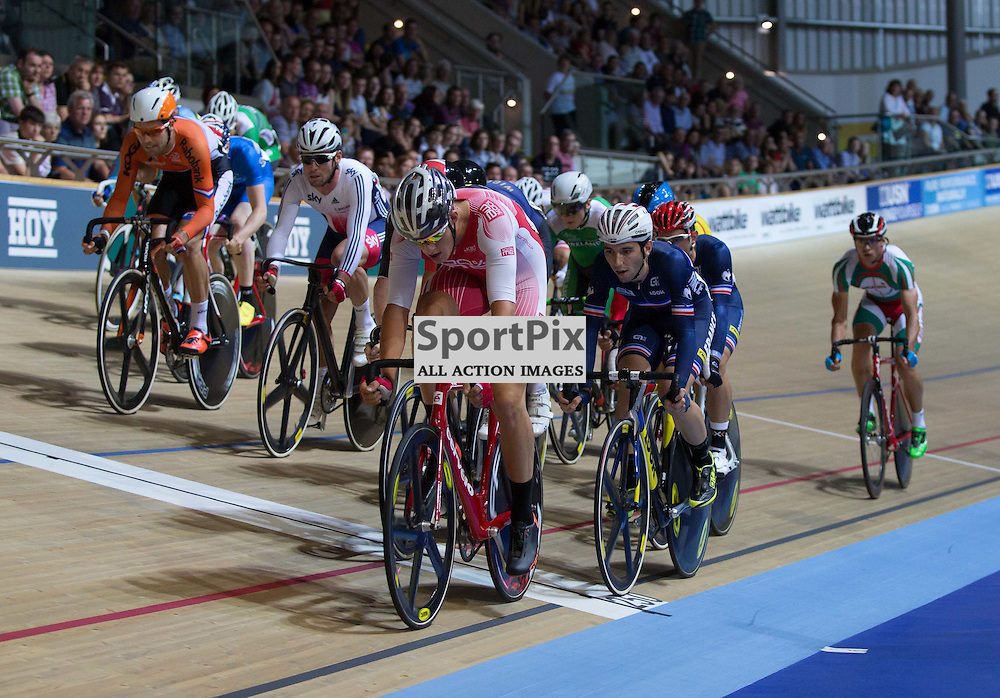 The early stages of the Men's Omnium at the Revoultion Series 2015/6 Round 1 Derby, Day 2, on 15 August 2015 ( (Photo by Mike Poole - Photopoole)