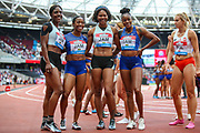 Jamaica, winners of the Women's 4x100m Relay during the Muller Anniversary Games 2019 at the London Stadium, London, England on 20 July 2019.