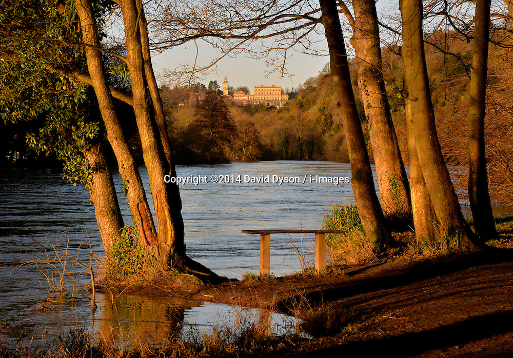A general of of Clivedon, taken from the River Thames, United Kingdom, Saturday, 11th January 2014. Picture by David Dyson / i-Images
