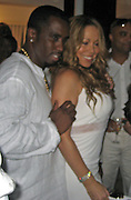 P. Diddy & Mariah Carey.P. Diddy Real White Party to commemorate Labor Day.P. Diddy Easthampton Estate.Easthampton, NY, USA.Sunday, September, 02, 2007.Photo By Celebrityvibe; .To license this image please call (212) 410 5354 ; or.Email: celebrityvibe@gmail.com;.