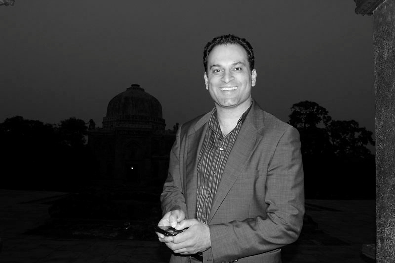 D Sidoo, an industralist from Canada on one of his business visits to India's capital New Delhi