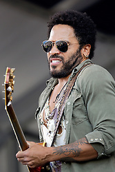 03 May 2015. New Orleans, Louisiana.<br /> The New Orleans Jazz and Heritage Festival. <br /> Lenny Kravitz plays the Acura stage.<br /> Photo; Charlie Varley/varleypix.com