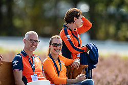 Hoy Betina, GER, Blom Merel, Stuip Dirk, NED<br /> Luhmühlen - LONGINES FEI Eventing European Championships 2019<br /> Impressionen am Rande<br /> Teilprüfung Dressur 4. Teil CCI4*<br /> Dressage CH-EU-CCI4*-L: 4th part<br /> 30. August 2019<br /> © www.sportfotos-lafrentz.de/Dirk Caremans