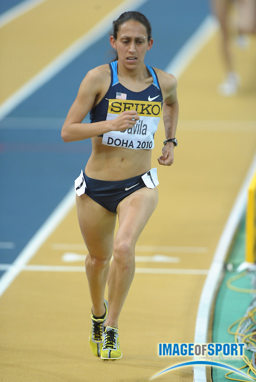 Mar 13, 2010; Doha, QATAR; Desiree Davila (USA) was 10th in the women's 3,000m in 9:07.24 in the IAAF World Championships in Athletics at the Aspire Dome.