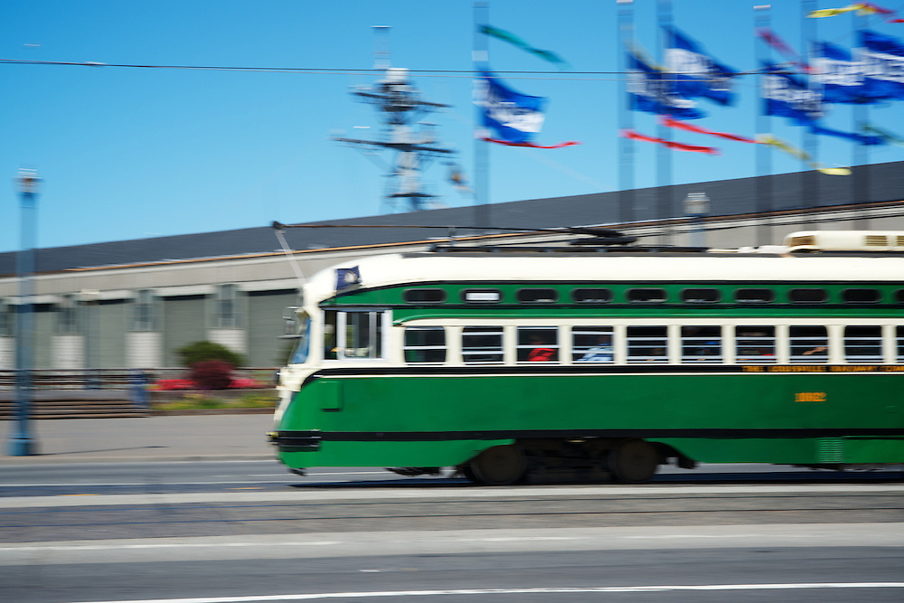 The Lousiville Railway Company Streetcar, number 1062 on San Francisco's Embarcadero | June 25, 2012