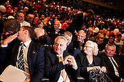 Tomislav Nikolic, center holding hands, at Serbian Progressive Party (SNS) congress at Sava Center in Belgrade, Serbia. May 15, 2012...Matt Lutton for The Wall Street Journal.BELGRADE