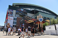 PHOENIX, AZ - APRIL 2:  Fans arrive to Chase Field for the Opening Day game between the San Francisco Giants and Arizona Diamondbacks on Sunday, April 2, 2017 in Phoenix, Arizona. (Photo by Jennifer Stewart/MLB Photos via Getty Images) *** Local Caption ***
