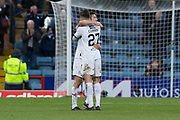 9th December 2018, Dens Park, Dundee, Scotland; Ladbrokes Premiership football, Dundee versus Rangers; Cammy Kerr and Jesse Curran of Dundee at the end of the match