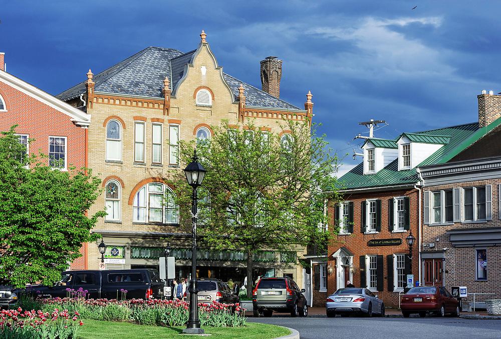 Town square, Gettysburg, Adams County, Pennsylvania, USA
