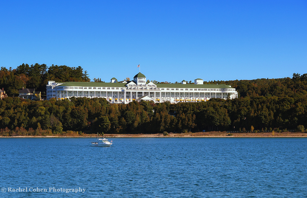 &quot;Grand Hotel Mackinac Island&quot;<br /> <br /> The beautiful and historic Grand Hotel on Mackinac Island, Michigan as viewed from the straits of Mackinac!