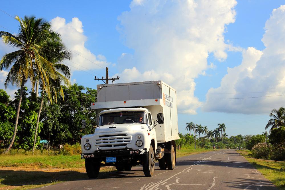 Russian truck near Vertientes, Camaguey, Cuba.