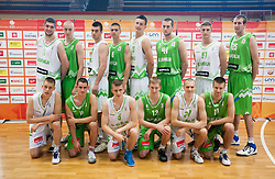 U20 team during Open day of Slovenian U20 National basketball team before the European Chmpionship in Slovenia, on July 9, 2012 in Domzale, Slovenia.  (Photo by Vid Ponikvar / Sportida.com)