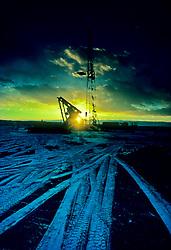 rig at sunrise