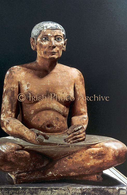 Seated scribe. Model, 5th Dynasty