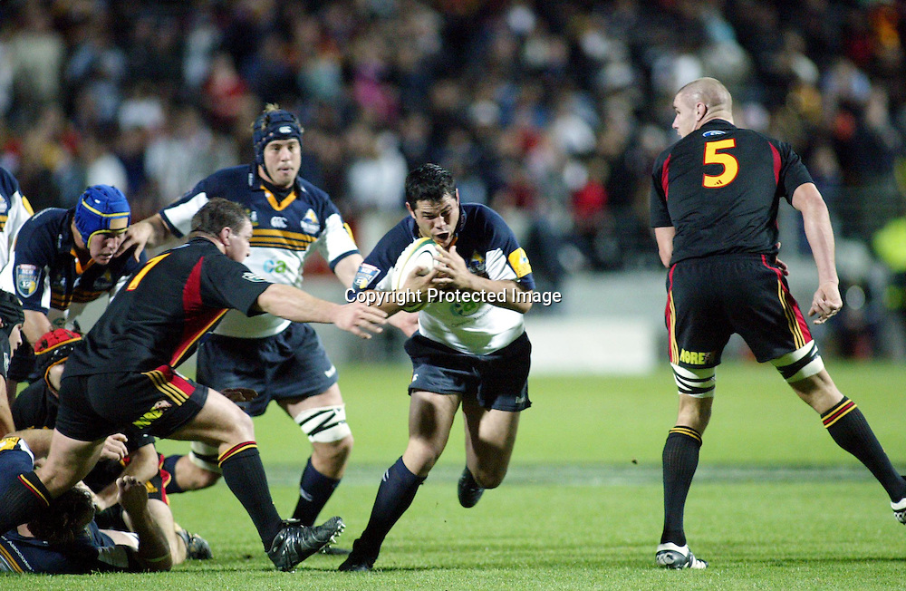 8 May 2004, Rebel Sport Super 12, Chiefs vs Brumbies, Waikato Stadium, Hamilton, New Zealand.<br /> Jeremy Paul<br /> Please credit: Photosport