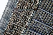 steel frame under bridge
