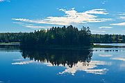 Cloud reflection in Moser River, Moser River, Nova Scotia, Canada