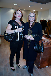 Left to right, JULIA WALLACE-WALKER and VISCOUNTESS GORMANSTON at a preview evening of the Leon Max Autumn Winter Collection 2013 held at Leon Max, 229 Westbourne Grove, London W11 on 24th September 2013.