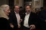 ANDREW ROBERTS; HOWARD JACOBSON, The launch of Fire Child by Sally Emerson. Hosted by Sally Emerson and Naim Attalah CBE. Dean St. London. 22 March 2017