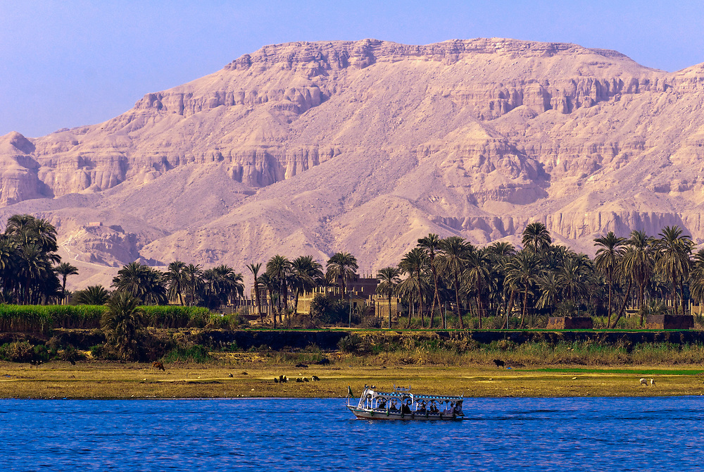Boats on the Nile River, Luxor, Egypt