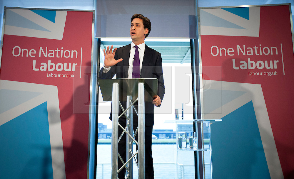 © Licensed to London News Pictures. 06/06/2013. London, UK. Labour leader Ed Miliband is seen delivering a speech on social policy in Newham East London today (06/06/2013). Photo credit: Matt Cetti-Roberts/LNP