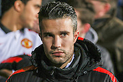 Manchester United's Robin Van Persie during the The FA Cup match between Cambridge United and Manchester United at the R Costings Abbey Stadium, Cambridge, England on 23 January 2015. Photo by Phil Duncan.