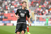 Brentford  midfielder Lewis Macleod (4)  during the EFL Sky Bet Championship match between Rotherham United and Brentford at the New York Stadium, Rotherham, England on 20 August 2016. Photo by Simon Davies.
