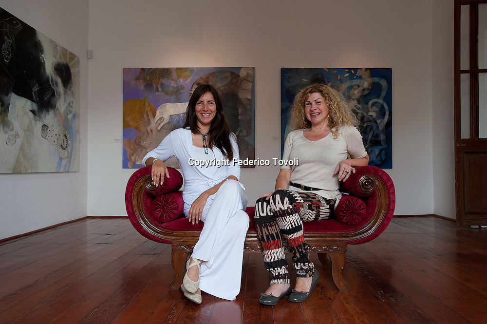 Peru, Lima, Barranco. art galleries. Yessica Hernandez e Anne Debert owners of  Amaranto gallery