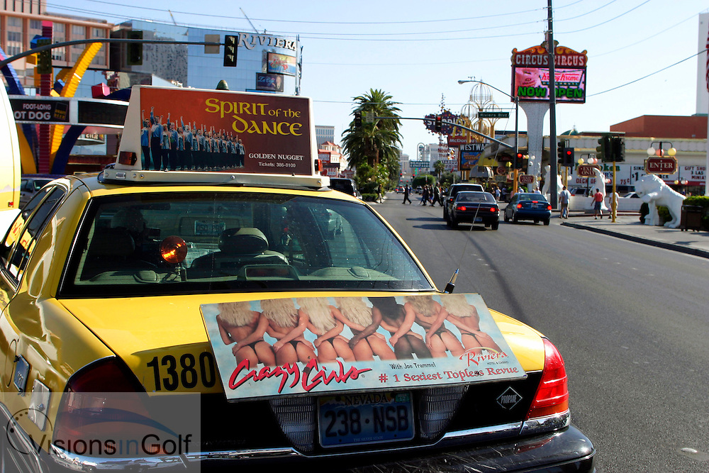 All sorts of interesting adverts on the taxis - Irish Dancing on one hand and sexy bums!!<br />