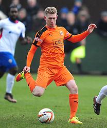 JACK FRENCH HARTLEY WINTNEY FC, AFC Rushden & Diamonds v Hartley Wintney FC Hayden Road, Evo Stik League South East Saturday 2nd December 2017 Score 2-0, Rushden go top of League, Photo:Mike Capps