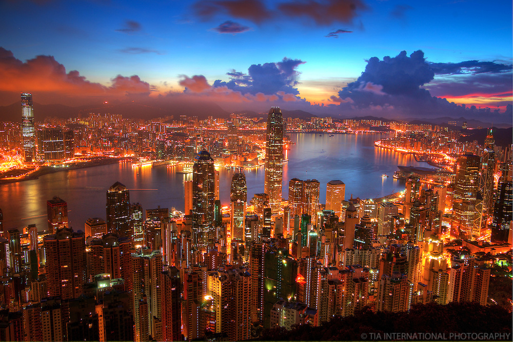 Hong Kong Cityscape from Victoria Peak @ Sunrise