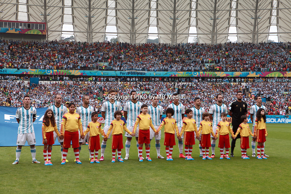Fifa Soccer World Cup - Brazil 2014 - <br /> NIGERIA  (NGA) Vs. ARGENTINA (ARG) - Group F - Estadio Beira-RioPorto Alegre - Brazil (BRA) - June 25, 2014 <br /> Here Argentine team before the match.<br /> &copy; PikoPress