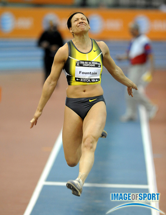 Feb 23, 2008; Boston, MA, USA: Hyleas Fountain won the women's long jump at 20-11 1/4 (6.39m) in the AT&T USA Track & Field Indoor Championships at the Reggie Lewis Center. Mandatory Credit: Kirby Lee/Image of Sport-US PRESSWIRE