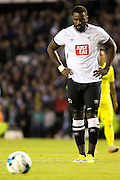 Derby County's Darren Bent lines up for a penalty, only for it to be saved during the Pre-Season Friendly match between Derby County and Villarreal CF at the iPro Stadium, Derby, England on 29 July 2015. Photo by Aaron Lupton.