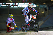 #777 (MAIRE Camille) FRA at the 2014 UCI BMX Supercross World Cup in Manchester.