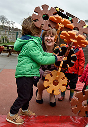 Pictured: Maree Todd meets Lachlan McGurk (4) from Inverkeithing.<br /> <br /> Minister for Children and young people Maree Todd launched the Scottish Government's new national standards for childcare and early years providers on a visit to the Treetop Family Centre in Inverkeithing.<br /> <br /> © Dave Johnston / EEm