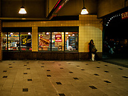 A Hopper-esque scene at the Stillwell Avenue subway station on Coney Island, Brooklyn, New York