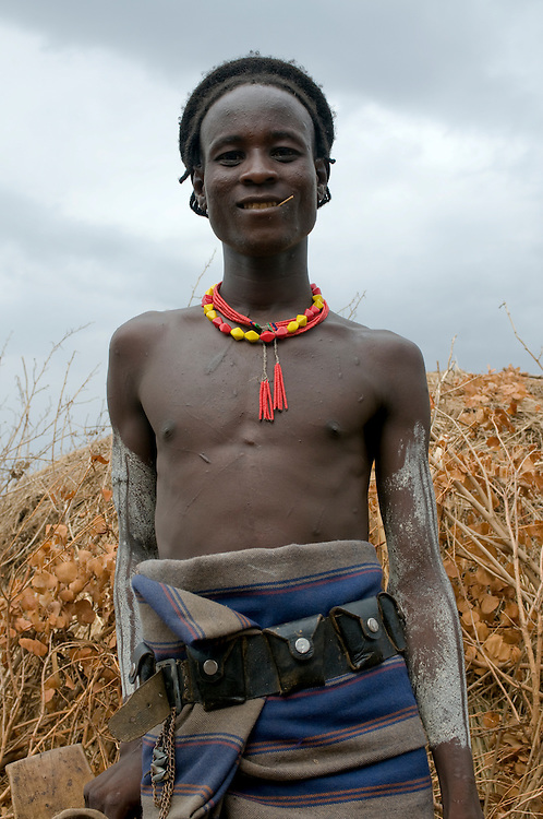 Young Dasanech warrior, Omovalley,Ethiopia,Africa