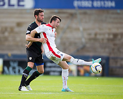 Raith Rovers Laurie Ellis and Falkirk's David Smith.<br /> half time : Raith Rovers 0 v 0 Falkirk, Scottish Championship game played 27/9/2014 at Raith Rovers Stark Park.