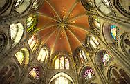Europe, Germany, North Rhine-Westphalia, Cologne, dome of the decagon of the romanesque church St. Gereon...Europa, Deutschland, Nordrhein-Westfalen, Koeln, Decke des Dekagons der romanischen Kirche St. Gereon.