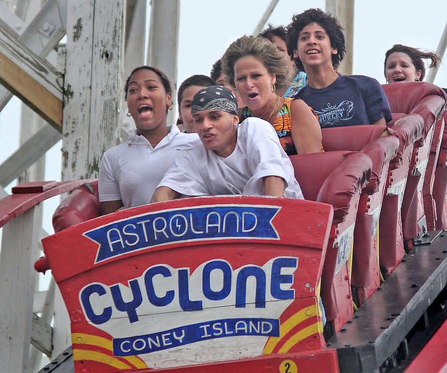 A Piece of Cake. Nottt! Coney Island, Brooklyn's Cyclone roller coaster.