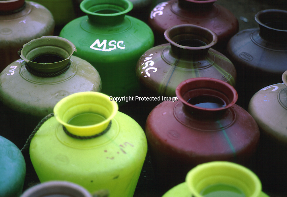 Water cans in India