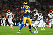 LA Rams Wide Receiver Josh Reynolds (83) completes a catch during the International Series match between Los Angeles Rams and Cincinnati Bengals at Wembley Stadium, London, England on 27 October 2019.