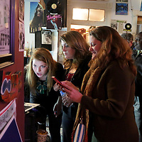 Campaign Manager Erin Rogers, left, Candidate for NC Senate District 9 Elizabeth Redenbaugh, center, and Rep. Susi Hamilton watch election results at Ted's Fun on the River Tuesday November 4, 2014 in Wilmington, N.C. (Jason A. Frizzelle)