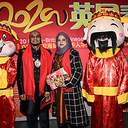 Cllr Humayun Kabir and wife attends the 2020 China-Britain Chinese New Year Extravaganza with 200 performers from over 20 art groups from both China and the UK showcase at Logan Hall on 18th January 2020, London, UK.