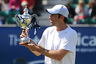 Picture by Ste Jones/Focus Images Ltd.  07706 592282.24/06/12.Greg Rusedski (GBR) winner of the Legends Mens final at the +medicash Liverpool International 2012 tennis at Calderstones Park, Liverpool.
