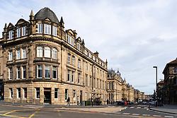 View of Chambers Street in Edinburgh, Scotland,UK