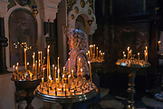 Kiev, Ukraine Prayers. St Volodymyr's Cathedral is a cathedral in the centre of Kiev. It is one of the city's major landmarks and the mother cathedral of the Ukrainian Orthodox Church